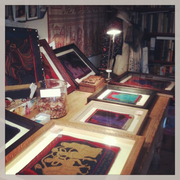 Lou Jessop's studio